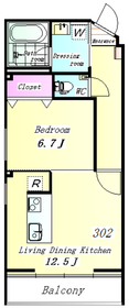 THE WOOD(デザイナーズマンション) 302号室