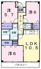 パークスクウェア湘南1階Fの間取り画像