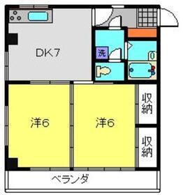 STマンション3階Fの間取り画像