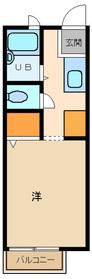 ヴィレッジ富士見ヶ丘1階Fの間取り画像