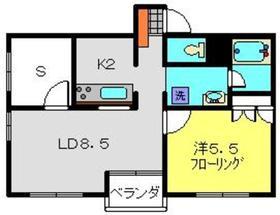 サザンヒルズ新横浜2階Fの間取り画像
