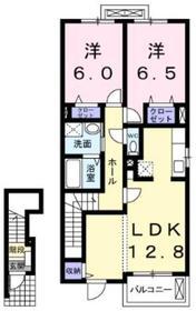 シモノハオスⅡ2階Fの間取り画像