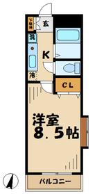 トゥインクル2階Fの間取り画像