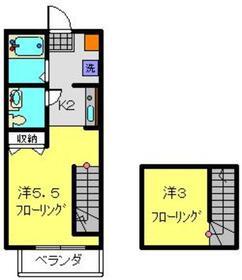 メゾンブリーク1階Fの間取り画像