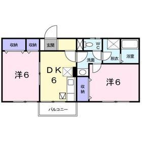 大磯駅 バス9分「月京」徒歩4分1階Fの間取り画像