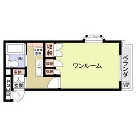 フォーシム庚申坂3階Fの間取り画像