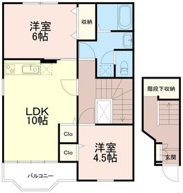 アンソレイエ2階Fの間取り画像