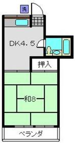 鈴木ハイツ2階Fの間取り画像