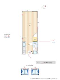 コーポつしま5棟 : 2階間取図