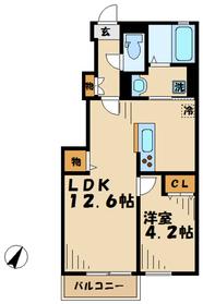 デュラカーサ根光21階Fの間取り画像