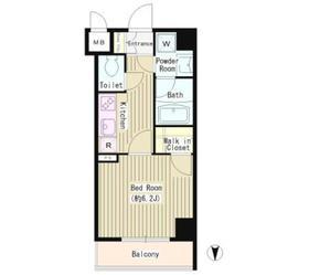 ステューディオ神保町Ⅱ4階Fの間取り画像