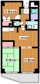 中板橋駅 徒歩2分2階Fの間取り画像