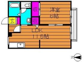 ビィアーレ金光 B2階Fの間取り画像