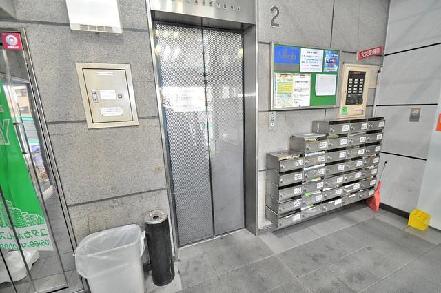パールハイム深江橋 嬉しい事にエレベーターがあります。重い荷物を持っていても安心