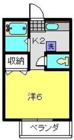 テラガーデン1階Fの間取り画像