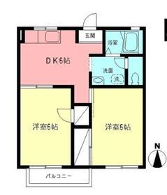 本厚木駅 バス20分「依知小学校前」徒歩2分2階Fの間取り画像