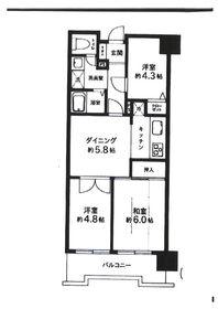 成増駅 徒歩3分14階Fの間取り画像