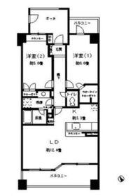グライユール横浜6階Fの間取り画像