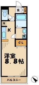 グランシャレ2階Fの間取り画像