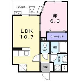 ル・クラージュ4階Fの間取り画像