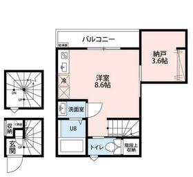 KTS笹塚3階Fの間取り画像