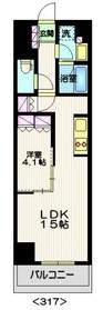 ステーションツインタワーズ糀谷 フロント・ウエスト3階Fの間取り画像