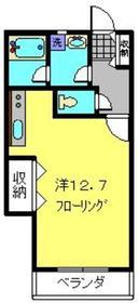 シャッセ中原1階Fの間取り画像