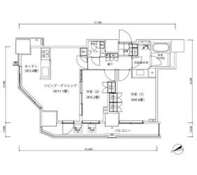 パークキューブ愛宕山タワー8階Fの間取り画像