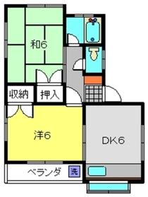 山本アパート1階Fの間取り画像