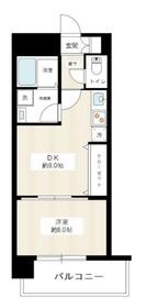ヴィータローザ横浜吉野町6階Fの間取り画像