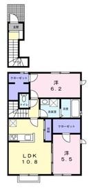 エクセレントYU2階Fの間取り画像