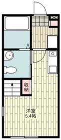 メゾンカワシマ2階Fの間取り画像