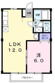 本厚木駅 バス24分「藤塚」徒歩5分2階Fの間取り画像