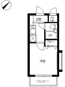 スカイコート宮崎台第42階Fの間取り画像