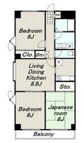 トゥイナーハウス3階Fの間取り画像