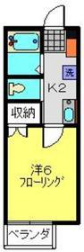 新丸子駅 徒歩22分2階Fの間取り画像