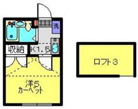 新川崎駅 徒歩24分1階Fの間取り画像