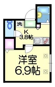 MAISON ASAKA1階Fの間取り画像