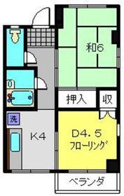 小谷アネックス2階Fの間取り画像