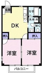 クレストⅡ2階Fの間取り画像