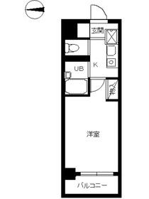 スカイコート神楽坂第21階Fの間取り画像