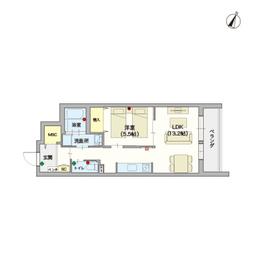(シニア限定)yzikegamiⅡ3階Fの間取り画像