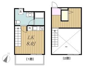 生田駅 徒歩15分2階Fの間取り画像