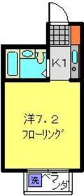ハイツ前田2階Fの間取り画像