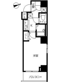 スカイコート品川南大井6階Fの間取り画像