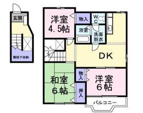 パークハイム弐番館2階Fの間取り画像