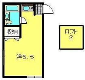 カルタス21矢向2階Fの間取り画像