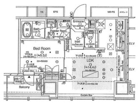 ワテラスタワーレジデンス34階Fの間取り画像