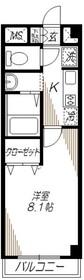 ベルメゾン大井4階Fの間取り画像