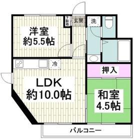 OAK PLAZA3階Fの間取り画像